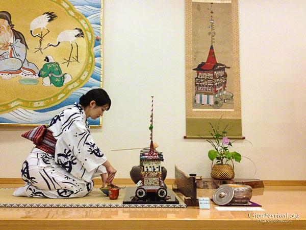 kikusui boko tea ceremony treasures gion festival kyoto japan