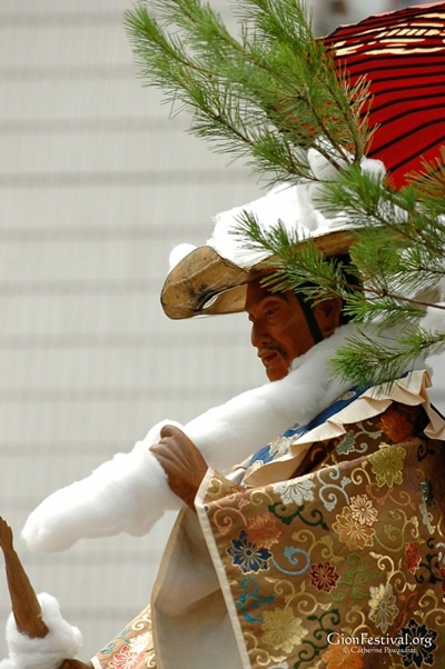 mousou yama deity statue snow brocade closeup gion festival procession kyoto japan