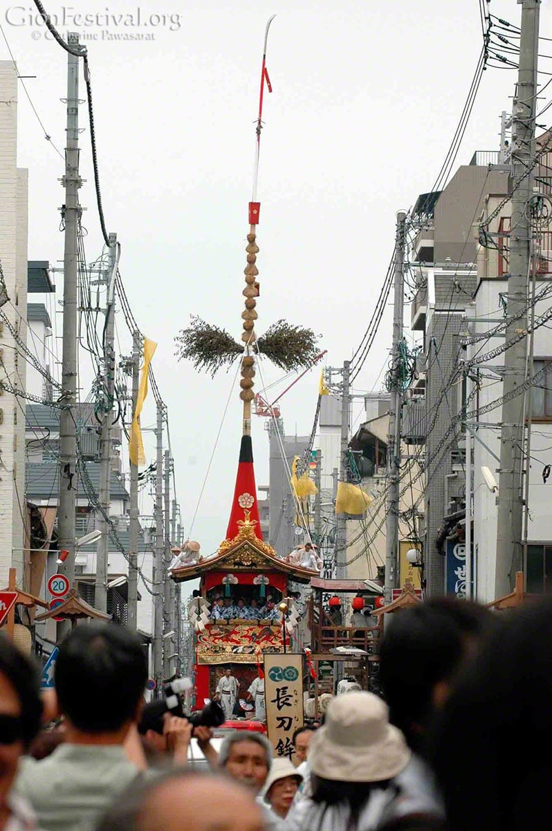 naginata boko naginata float first float in gion festival procession shinmachi kyoto japan