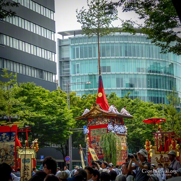 several yamaboko floats gion festival july 24 ato matsuri procession kyoto japan